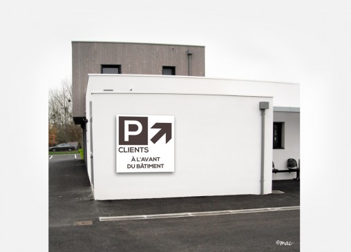 PANNEAU PARKING CLINIQUE