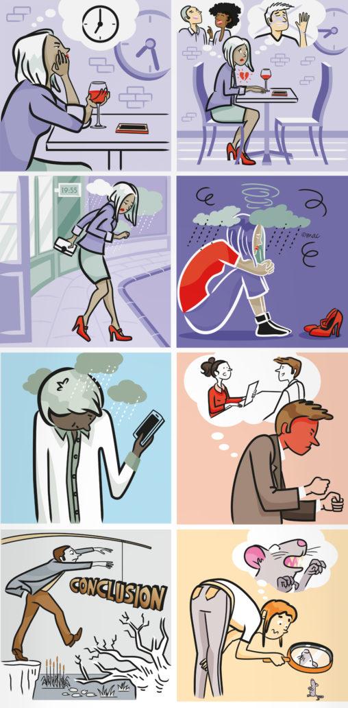 Personnages vectoriel émotion développement personnel application jeu illustrateur Magali AC Angers