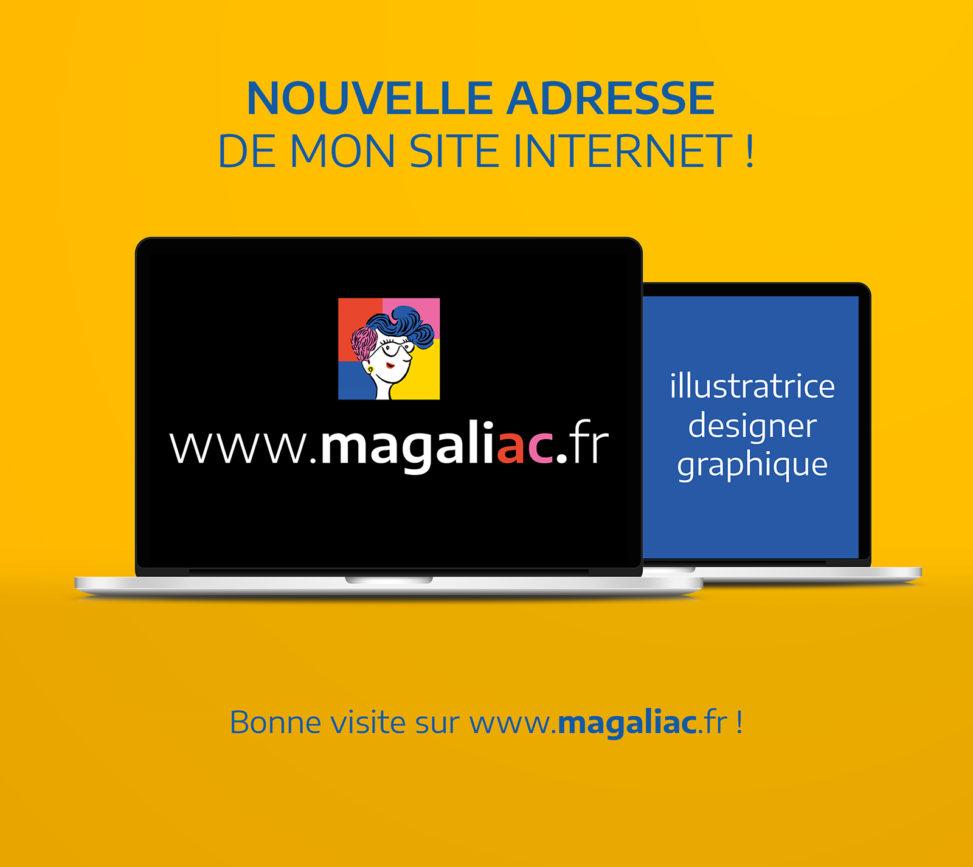 graphiste illustrateur designer graphique création magaliac Angers nouveau nom de domaine site www.magaliac.fr